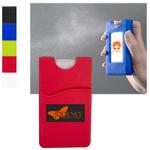 Silicone Wallet Sleeve w/ Sanitizer - 0.67 oz.