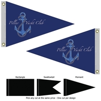 """24"""" x 36"""" Double Sided Knitted Polyester Boat Flag"""