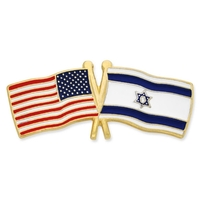 USA & Israel- Friendship Flag Lapel Pin