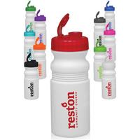 20 oz Flip Top Plastic Bike Water Bottle