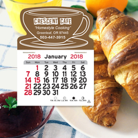 Coffee Cup Shaped Peel-N-Stick (R) Calendar