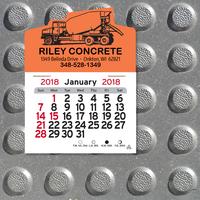Cement Truck Shaped Peel-N-Stick (R) Calendar