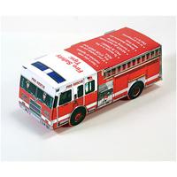 Foldable Die-cut Fire Truck,Full Color Digital