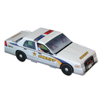 Foldable Die-cut Sheriff Car, Full Color Digital