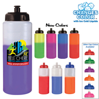 32oz. Mood Sports Bottle With Push'nPull Cap, Full Color Dig
