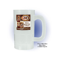 14 oz. Nite Glow Beer Stein (2 Side), Full Color Digital