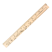 "Farm Animals ""U"" Color Rulers - Natural wood finish"