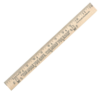 "Save/Earn ""U"" Color Rulers - Natural wood finish"