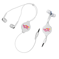 Retractable Ear Buds, Full Color Digital