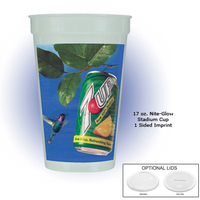 17 Oz. Nite-glow Stadium Cup, Full Color Digital
