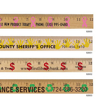 Dollar Sign/Financial Rulers - Clear Lacquer Finish