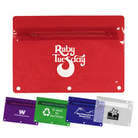 Premium Vinyl Zippered Pack, Translucent Colors