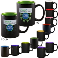 11oz Vanish Ink Two-Tone Satin Hilo Mugs, spot color
