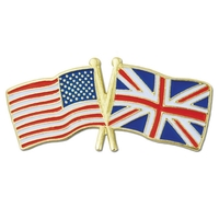 World Flag - USA & United Kingdom Flag Pin