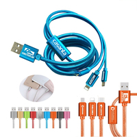 The Virgo 3 in 1 Charging Cable Android, iPhone, Type C adap