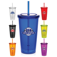20 oz Double Wall Acrylic Tumbler with Straw