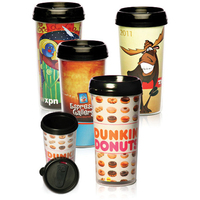 16 oz Paper Insert Photo Travel Mug