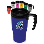 14 oz Plastic Insulated Travel Mug