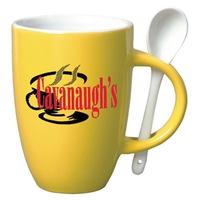 12 oz Spooner Coffee Mug-Spoon-Yellow