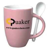 12 oz Spooner Coffee Mug-Spoon-Pink