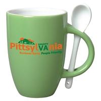 12 oz Spooner Coffee Mug-Spoon-Green