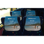 Full Color Full Bleed Convention Bus Headrest Cover