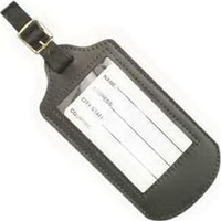 Top Grain Leather Luggage Tag