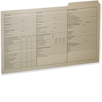 Legal file folder with third tab position