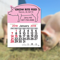 Pig Shaped Peel-N-Stick (R) Calendar