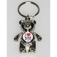 Teddy Bear Key Tag w/ Dome