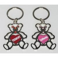 Teddy Bear Key Tag w/ Stones