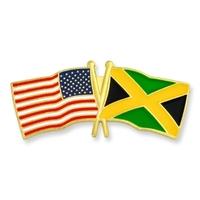 World Flag - USA & Jamaica Flag Pin