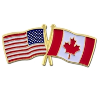 World Flag - USA & Canada Flag Pin