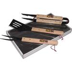 Premium Wood Handle BBQ 3 Pc Set