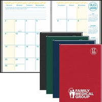 Academic Desk Monthly Planner with Morocco Cover