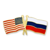 World Flag - USA & Russia Flag Pin