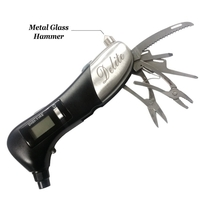 DIGITAL TIRE GAUGE WITH LED LIGHT AND MULTI TOOL