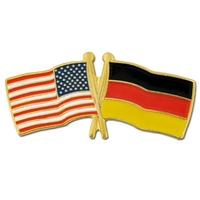 World Flag - USA & Germany Flag Pin