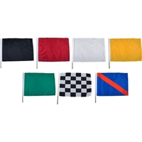 "24"" x 30"" Nylon Mounted Auto Racing Flag Set"