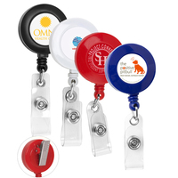 "30"" Cord Retractable Badge Reel with Rotating Alligator Clip"