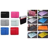 "iBank®Crystal Clear Case&Neoprene Case for Macbook Air 11"""