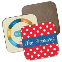 Hardboard Square Coaster w/Full Color Sublimation