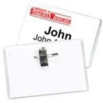 "4"" x 2-1/2"" Standard Value Vinyl Name Tag Holder, Pin/Clip"