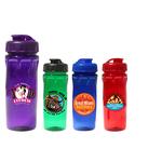 18 oz. Poly-Saver PET Bottle with Flip Top Cap, Full Color D