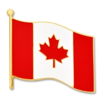 World Flag - Canadian Flag Lapel Pin