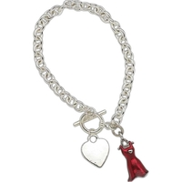 Red Dress Women's Heart Disease Charm Bracelet