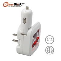 Quick Ship Car & Wall Charger, ETL Certified