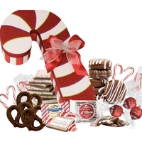 Jumbo Candy Cane with Gourmet Chocolates