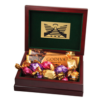 Large Wood Box with 6 Assorted Godiva (R) Chocolates