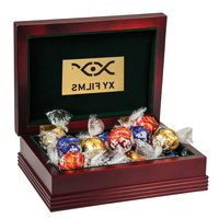 Large Wood Box with 6 Assorted Lindt® Chocolates